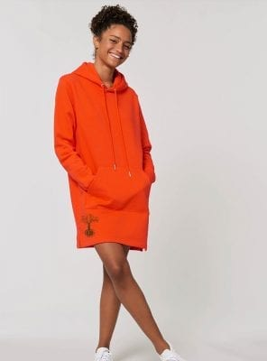 Robe Femme Bio Mandarine Save The World Devant