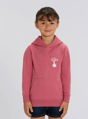Sweat Bio Enfant Fille Corail Face