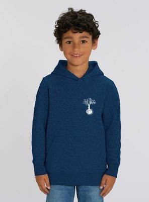 Sweat Bio Enfant Garcon Bleu Denim Face