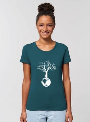 Tshirt Bio Femme Outremer Save The World