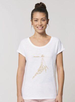 Tshirt Bio Femme Baleine Blanc