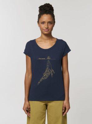 Tshirt Bio Femme Baleine Marine