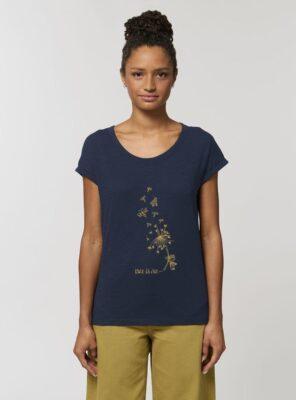 Tshirt Bio Femme Bee Marine