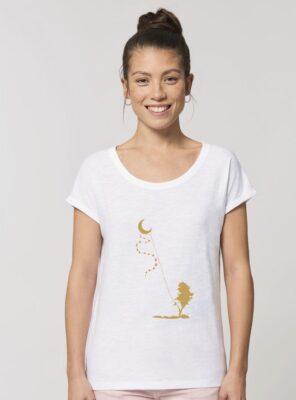 Tshirt Bio Femme Dream Time Blanc