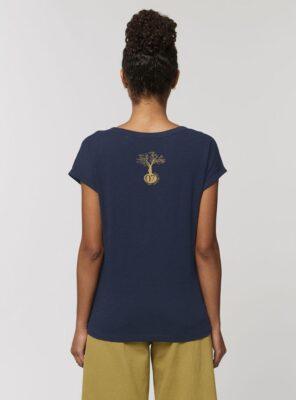 Tshirt Bio Femme Marine