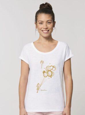 Tshirt Bio Femme Space Blanc