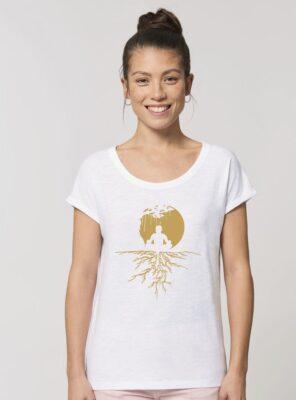 Tshirt Bio Femme Zen Blanc