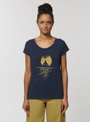Tshirt Bio Femme Zen Marine